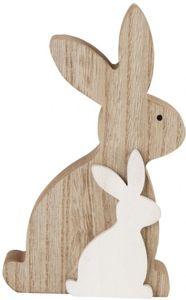 Dekohasen - aus Holz - 8,5 x 15 cm