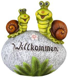 Deko-Schnecken - aus Magnesia - 27,5 x 15 x 30,5 cm