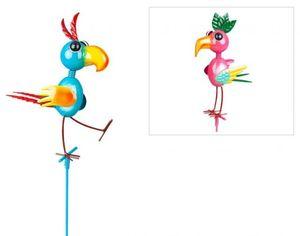 Pflanzenstecker - Vogel - aus Metall - 15 x 8 x 90 cm - 1 Stück