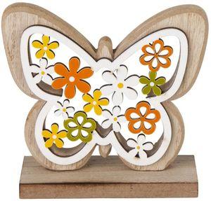 Deko-Schmetterling - aus Holz - 11 x 4 x 11 cm