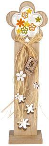 Standdeko - Blume - aus Holz - 11,5 x 6 x 41 cm