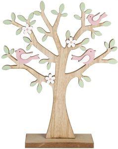 Standdeko - Baum - aus Holz - 25 x 5 x 31 cm