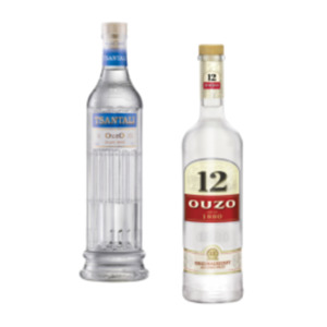 Ouzo 12, 12 Gold oder Tsantali Ouzo