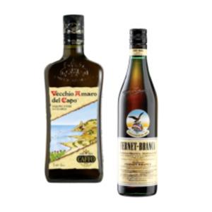 Fernet Branca, Branca Menta, Vecchia Romagna oder Vecchio Amaro del Capo