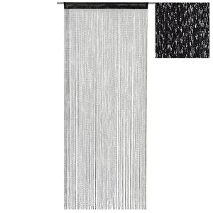 Fadenvorhang - schwarz - 90x245 cm