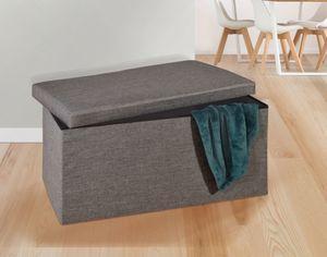 Sitz- und Aufbewahrungsbox - braun