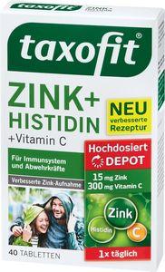 Zink 15 + Histidin + Vitamin C taxofit 40 ST / 34,6 g