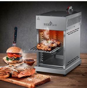 GOURMETmaxx Gas-Oberhitzegrill Beef Maker 6-tlg. 800°C Edelstahl mit Grillrost