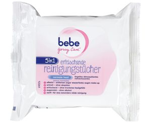 bebe® 5in1 Erfrischende Reinigungstücher, 25 Tücher