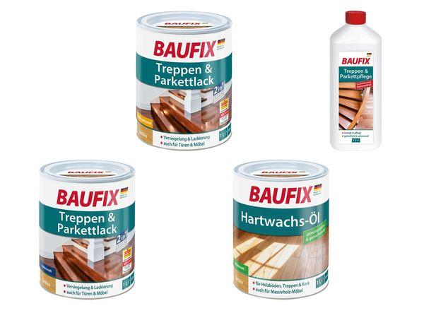 BAUFIX Treppen- und Parkettpflege / Treppen- und Parkettlack / Hartwachsöl