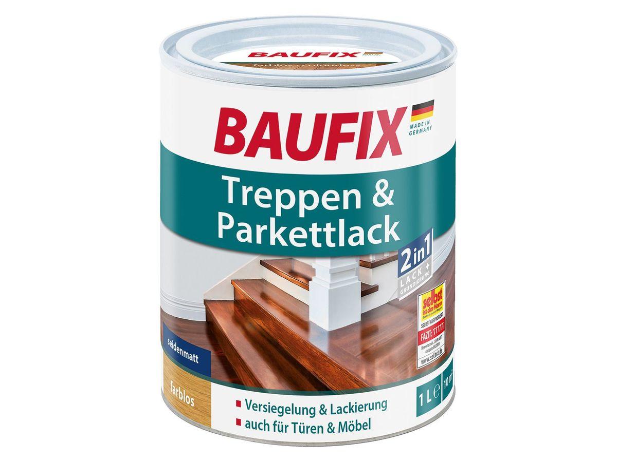Bild 3 von BAUFIX Treppen- und Parkettpflege / Treppen- und Parkettlack / Hartwachsöl