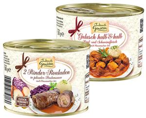 Traditionelle Genüsse Fleischgericht in der Dose
