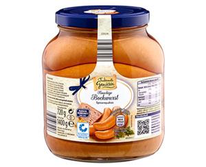Traditionelle Genüsse Knackige Bockwurst