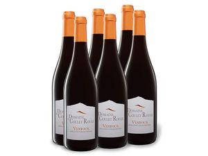 6 x 0,75-l-Flasche Domaine du Coulet Rouge Ventoux AOP trocken, Rotwein
