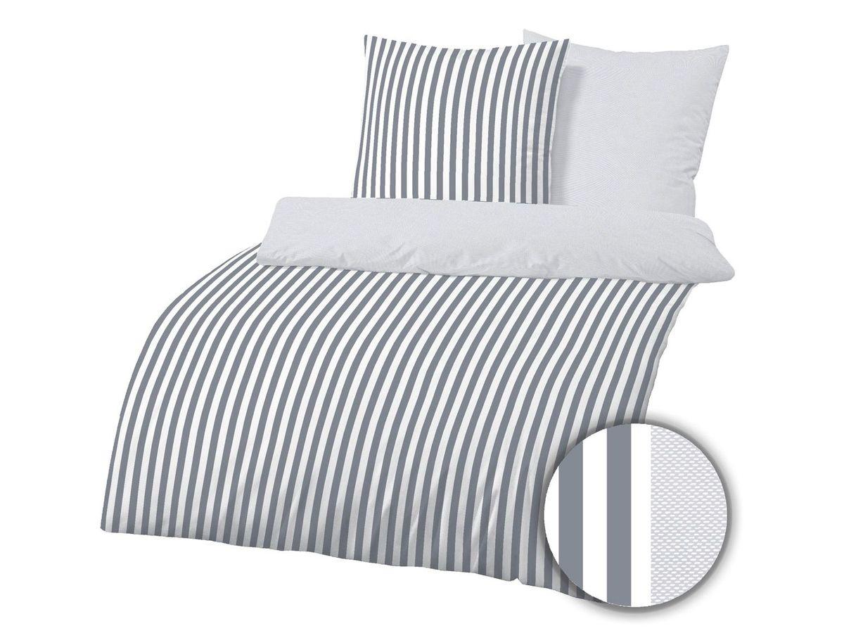 Bild 1 von Dobnig Mako-Satin Bettwäsche Streifen silber