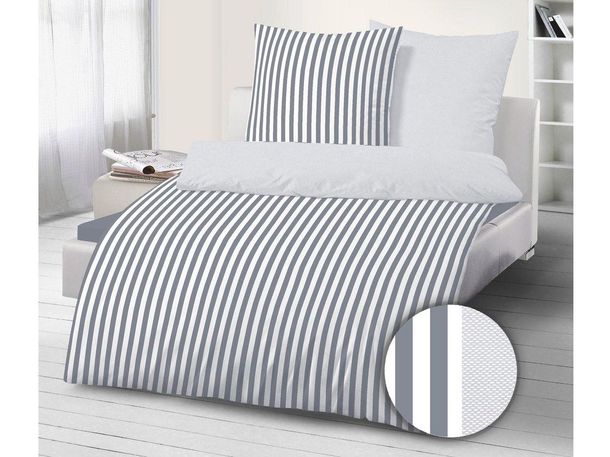 Bild 2 von Dobnig Mako-Satin Bettwäsche Streifen silber