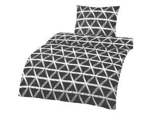 Dobnig Biberbettwäsche Dreiecke schwarz