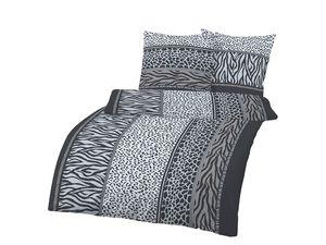 Dobnig Feinbiber Bettwäsche Zebra-Design