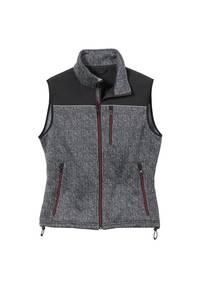 Fleece-Softshell Weste, Farbe grau meliert