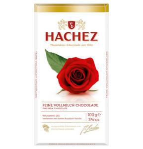 HACHEZ             Rosentafeln, Edel-Vollmilch                 (4 Stück)