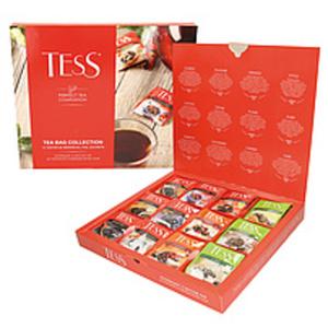 """Mischung aus Tees, aromatisierten Tees und Früchtetees """"Tess..."""