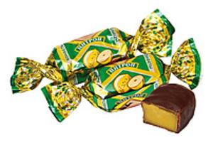 "Fondant-Konfekt ""Zitron"" mit Zitronengeschmack in kakaohalti..."