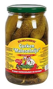 """Eingelegte Gurken """"Malosolnije-Na Pososchok"""" nach Kasaken-Ar..."""