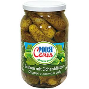 """Eingelegte Gurken mit Eichenblätter """"Moja semja"""""""