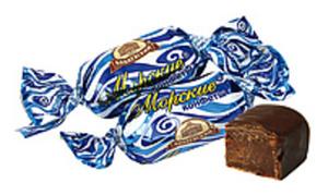 """Fondant-Konfekt """"Morskie"""" in kakaohaltiger Fettglasur"""