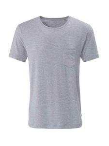 Calida T-Shirt, Rundhals, mid grey melé, grau, L