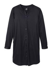 Calida Seiden-Sleepshirt, geknöpft Länge 90cm, black, schwarz, M