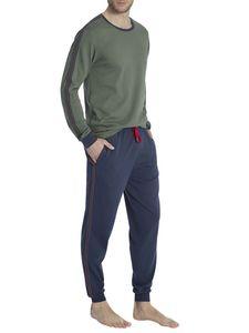 Calida Bündchen-Pyjama mit Seitentaschen, thyme green, grün, XL