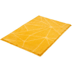 Kleine Wolke Badteppich ´´Nizza´´, sonnengelb, 70x120 cm
