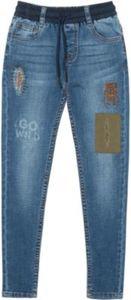 Jeans mit Aufnäher Gr. 110/116 Jungen Kinder