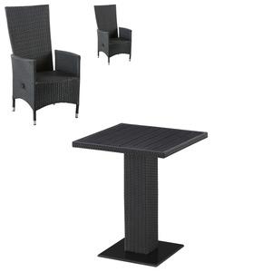 Balkon-Set Alghero/Rio Grande (60x60, 2 Komfortsessel, schwarz)