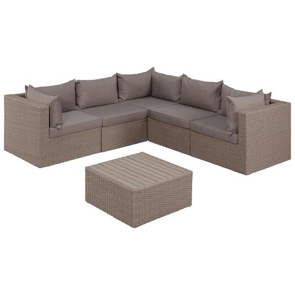 Eck Sofa Set Tennessee 3 Eck Module 2 Mittel Module 1 Tisch Mit