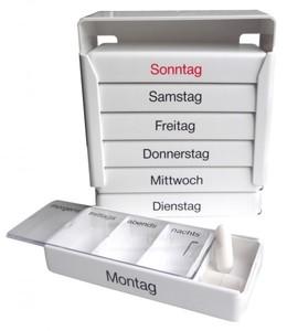 Medi-7 Tablettenbox für 7 Tage ,  Größe: ca. 12,5 x 5 x 11,5 cm