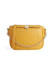 Gelbe Tasche mit Kettenhenkel