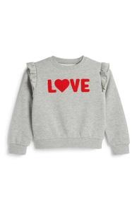 """""""Love"""" Sweatshirt (kleine Mädchen)"""