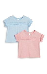 Rüschen-Shirt für Babys (M), 2er-Pack