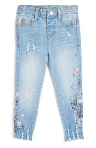 Jeans mit Blumen (kleine Mädchen)