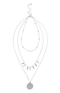 Mehrreihige Halskette mit Anhänger