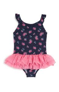 Badeanzug mit Blumen (kleine Mädchen)