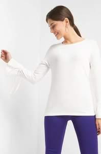 Shirt mit Trompetenärmeln
