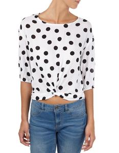 Damen Blusenshirt mit Punktemuster