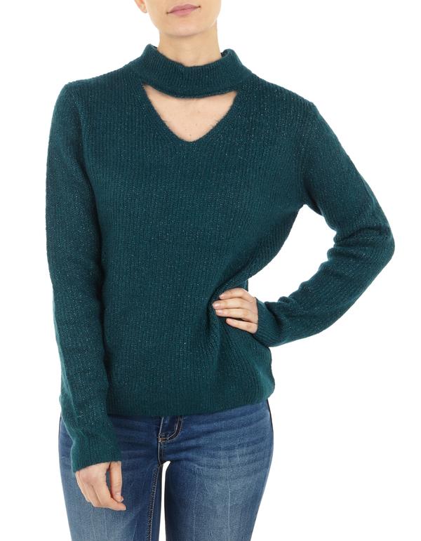 Damen Pullover mit Cut Out