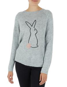 Damen Pullover mit Hasen-Motiv