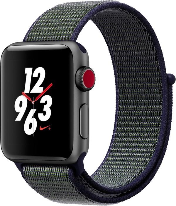 Apple Watch Nike+ (38mm) GPS + Cellular mit Nike Sport Loop spacegrau/midnight fog