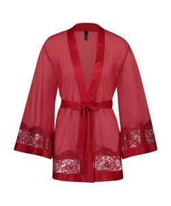 Hunkemöller Kimono Chiffon Fine Lace Rot
