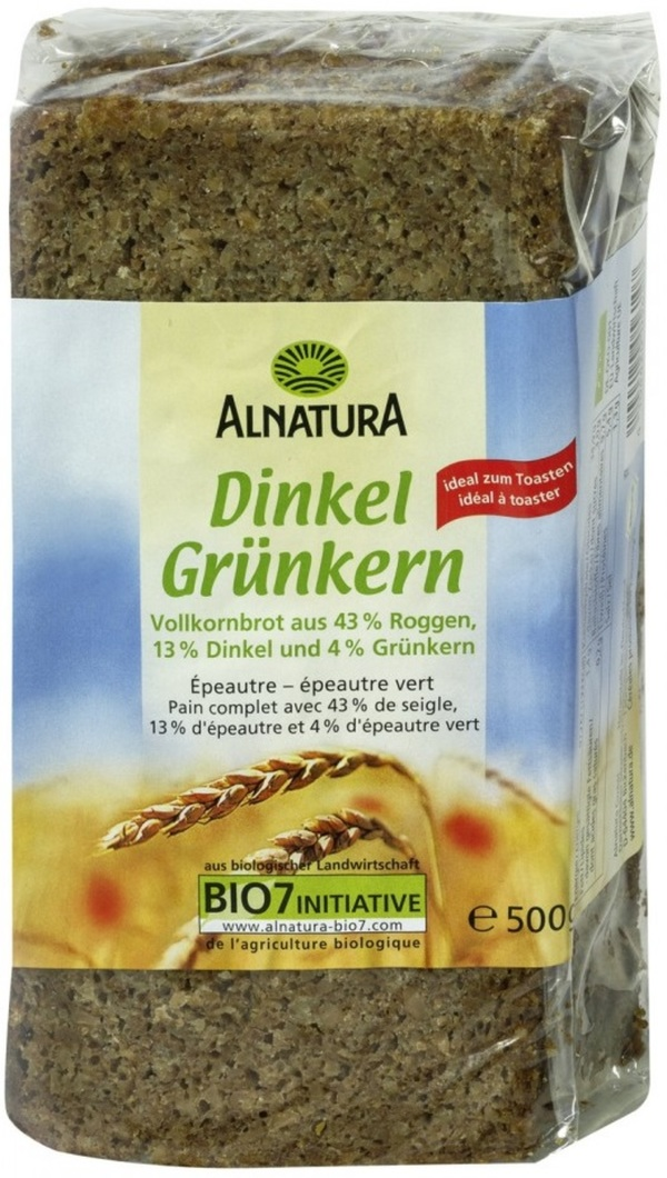 Alnatura Bio Dinkel Grünkern Brot 500 g